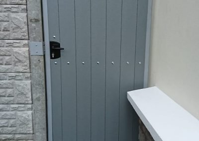 Timber effect gate Bolger Fabrication Ltd